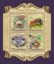 Mozambique - 2018 Micro Monsters - 4 Stamp Sheet - MOZ18128a