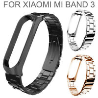 Waterproof Stainless Steel Watch Strap Metal Wristband For Xiaomi Mi Band 3