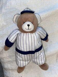 "10"" Prestige Toy Brown Bear Plush Stuffed Animal Lovey Baseball Uniform Hat"