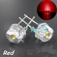 10PCS Red Super Bright 8mm Straw hat 0.5W  Light-emitting Diodes Lamp LEDs