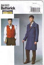 Coat Vest Sewing Pattern 38-44 Mens Butterick 6502 History