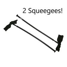 """2 Delux Straight Paintball Gun Barrel 18"""" Disk & Swab Stick Squeegees cleaner"""