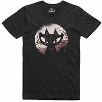 Spooky Cat Regular Fit 100% Cotton Funny T Shirt