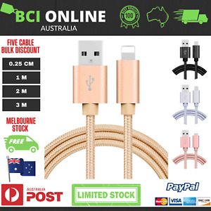 iPhone 6 X 8 7 5 SE XR X 12 11 Plus Charger Cable USB Fast Charging Braided Cord