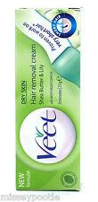 Paquete De 3 Veet 3 minutos Depilación Crema piel seca manteca de karité 25g Tamaño De Viaje
