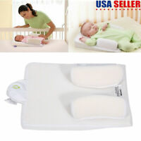 Adjustable Newborn Infant Baby Sleep Anti Roll Pillow Prevent Flat Head Cushion