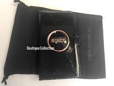 Mimco Black Flip Phone Case IPhone 6 Plus 7 Plus 8 Plus BNWT Rose Gold Hardware