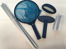 More details for small pool maintenance cleaning kit - includes brush, 52in pole, scrubbers & net