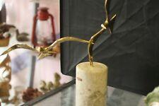 Vintage Bijan Signed Brass  Art Sculpture Flying Birds Seagui 1980