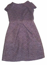 BNWT LIQUORISH JACQUARD UK 8 EUR 36 PURPLE DIAMONDS PARTY ENVELOPE SHIFT DRESS