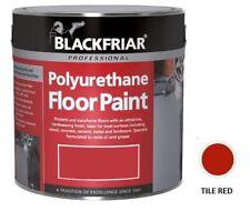 Blackfriar Polyurethane Floor Paint Indoor Outdoor Hard Wearing Tile Red 5L