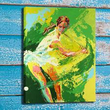 Print Home Wall Decor Art Oil Painting LeRoy Neiman Backhand 1974 Canvas 24x32
