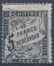 "FRANCE STAMP TIMBRE TAXE N° 24  "" TYPE DUVAL 5F NOIR "" OBLITERE A VOIR  M297"
