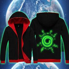 Naruto Uzumaki Luminous Anime Casual Zipper Sweatshirt Hoodie Jacket Coat #KS35