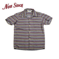 2019 NON STOCK Summer Blanket Striped Short Sleeve Shirts Men Vintage Tee Grey
