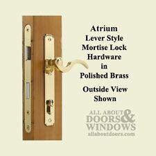 Atrium Door: Lock Hardware Set - Polished Brass