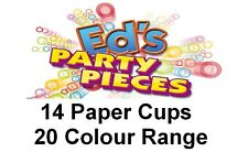 14 PAPER PARTY CUPS Solid Plain Colour Range 266ml/9oz Cup %7bFixed £2 UK p&p%7d