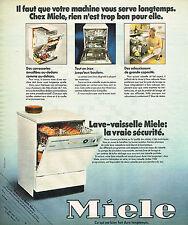 PUBLICITE ADVERTISING 054  1973  MIELE   lave vaisselle