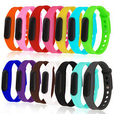 Mens Women Digital Sport LED Bracelet Wrist Watch Silicone Kids Boys Girls Watch
