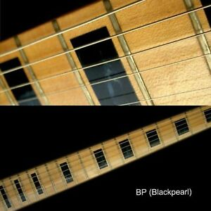 Block Black Pearl Guitar Fret board Markers Inlay stickers