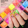 US 3D 12 Grids Nail Art Glitter Powder Butterfly Sequins Laser Flakes Decoration