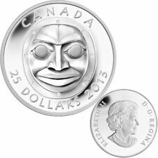 2013 Canada $25 Fine Silver Coin - Grandmother Moon Mask