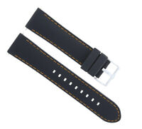 20MM RUBBER BAND STRAP FOR TAG HEUER CARRERA MONACO CALIBRE FORMULA BLACK ORANGE