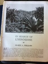 Kvc6 Ephemera 1957 Article In Search Of Lyonesse By Gladys A Williams