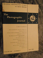 The Photographic Journal Vol 108 No 5 May 1968