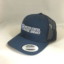 USPS Snapback Cap United States Postal Service Classic Trucker Hat Navy Yupoong