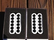 Seymour Duncan SH-8 Invader Humbucker Pickup SET White Ceramic Neck & Bridge
