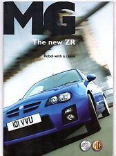 MG ZR 2004-05 UK Market Sales Brochure 105 120 160 TD TD 115