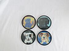 Beautiful Set of 4 Dogs Set of Coasters-Labs,Terrier,Mix ed Breed-Tara-Pink Cloud