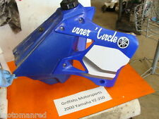 00 Yamaha YZ250 YZ 250 99 01 125 GAS FUEL TANK SHROUDS OEM CAP PETCOCK 98 97 96