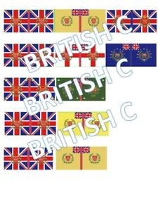 1/72 Napoleonic British C Flags lot