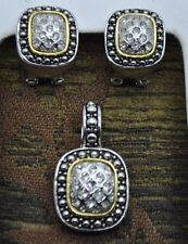 Fashion jewelry high quality vintage style pendant & earring set us-seller-01
