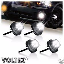VOLTEX 4pc Clear 2nd Gen. 6W LED Hide-Away Strobe Kit Vehicle Lightbar Bar
