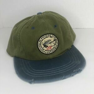 Polo Ralph Lauren Weathered 2R Fly Fishing Lure Sportsman Outdoors Vintage Hat