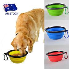 AU STOCK Pet Cat Dog Bowl Travel Portable Collapsible Feeding Water Dish Feeder