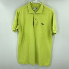 New listing Lacoste Polo Shirt Mens Small 3 Yellow Short Sleeve Rugby Crocodile Casual