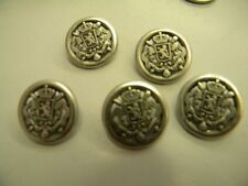 5 x ancre marin boutons militaire couleur argent ou or 15mm 18mm /& 21mm