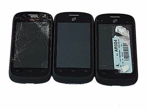 3 Lot ZTE Valet Z665C CDMA Android Smartphone Tracfone Touch Screen Power UP