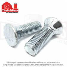 15 Pcs 38 16x2 12 Grade 5 3 Flat Head Plow Bolts Coarse Thread Zinc Clear