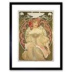 ALPHONSE MUCHA CHAMPAGNE PUBLISHER 1897 BLACK FRAMED ART PRINT B12X239