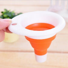 Suspensible Mini Silicone Gel Foldable Funnel Practical Collapsible Style 2017