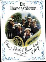 Postales Ak Pk la Blumenstädter Tarjeta Autografiada Músico Banda de Música Folk