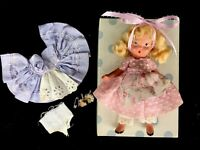Vintage Nancy Ann Storybook Doll 125 Alice Thru Looking Glass Bisque Dress Pudgy