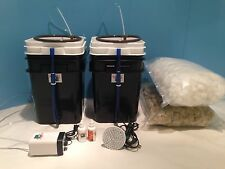 Hydroponics DWC grow system like water farm LED, Nutrient, Rock wool Set