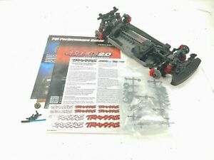 NEW Traxxas 4-Tec 2.0 VXL 1/10 4wd Supercar Roller Slider Chassis Kit Version!
