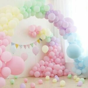 Macaron Pastel Balloons Garland Birthday Balloon Baby shower Party Decoration UK